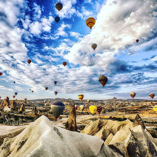 Cappadocia Turkey ... Enjoy a hot air balloon ride over one of the most magical places on earth.#eligasht #cappadocia #turkey #تور