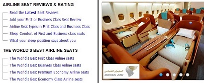 7. Skytrax Airline Seating Reviews