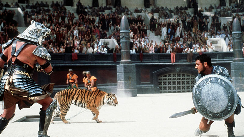 نبرد گلادیاتورها با حیوانات