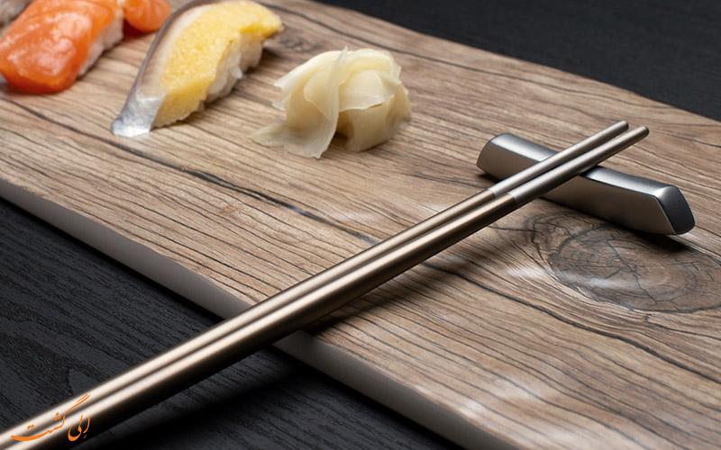 آداب غذا خوردن با چوب چاپستیک
