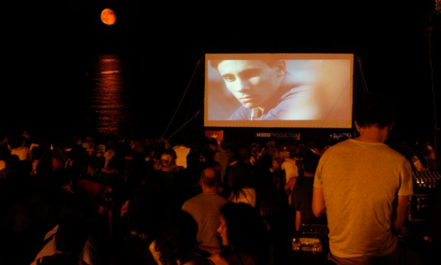 Outdoor film screenings and gigs