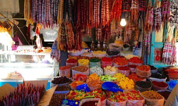 بازار خوارکی در تفلیس
