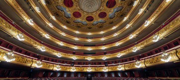 نمایی از خانه اپرا در بارسلونا