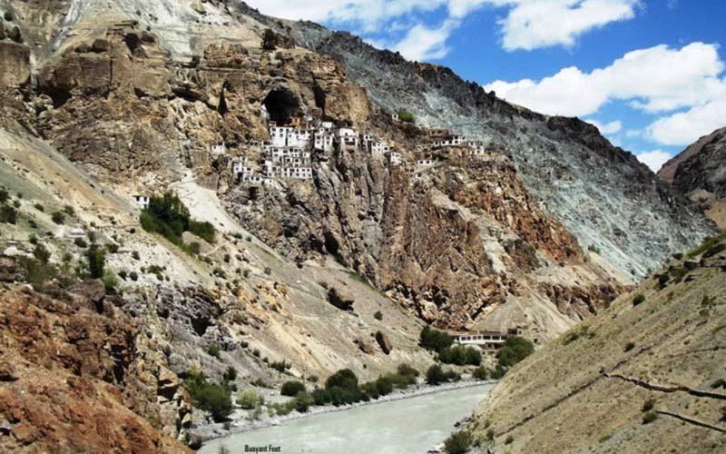 Lonely Phutkal Monastery, Zansakar, Ladakh