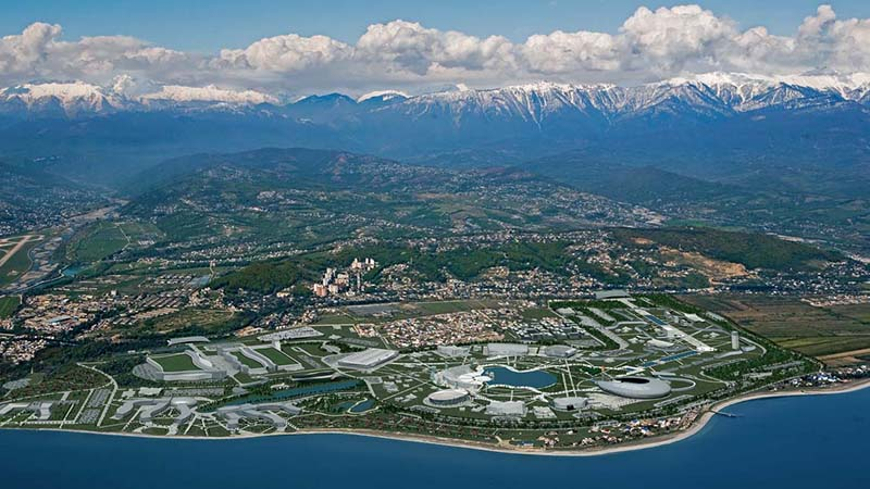 sochi from up