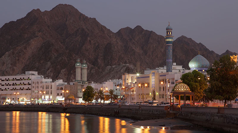 muttrah corniche in muscat sultanate of oman