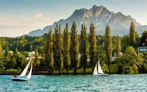Yachts on Lake Lucerne