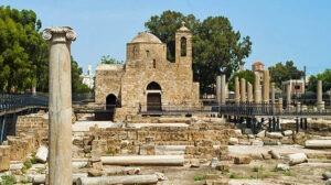 kyriaki church at hrysopolitissa archaeological site