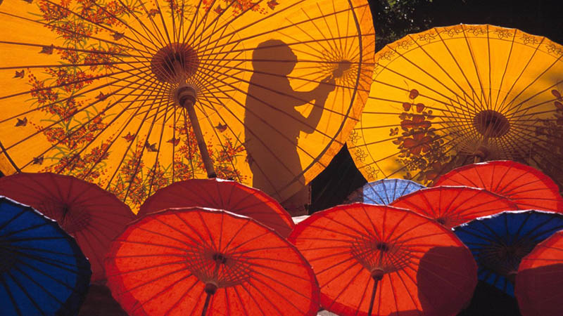 tailandia umbrella painting