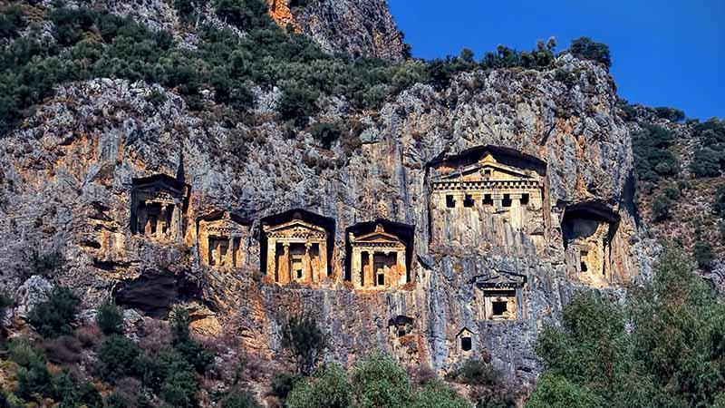 Lycian Tombs in turkey