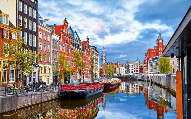 نمایی از شهر زیبای آمستردام
