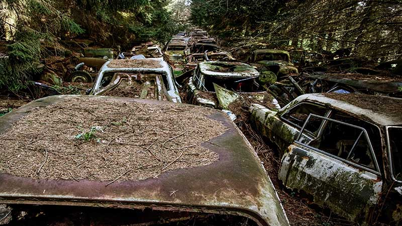 قبرستان ماشین ها شاتیلون بلژیک