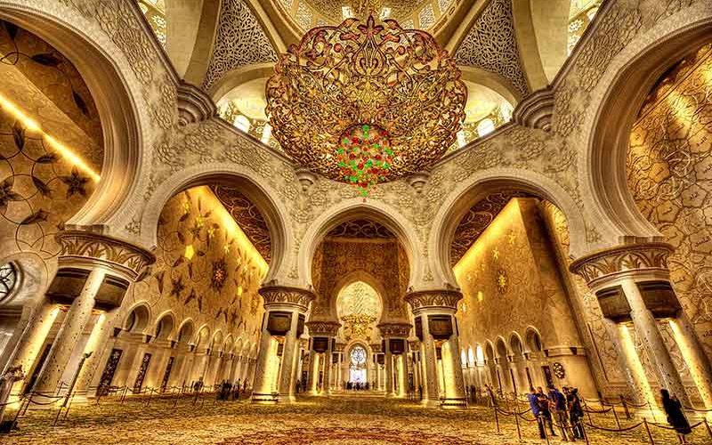 سقف های هنری مسجد