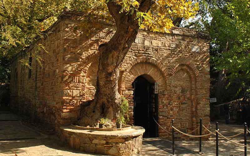 حیاط خانه مریم مقدس