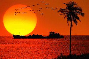 غروب خورشید در گوا