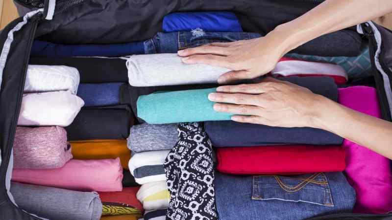 روش بستن چمدان سفر