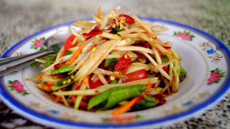 سالاد پاپایا | غذاهای خیابانی تایلند