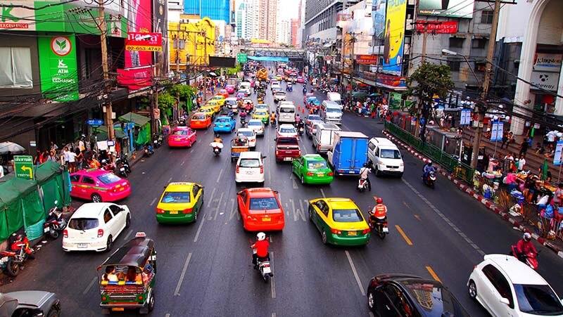 خیابان های بانکوک