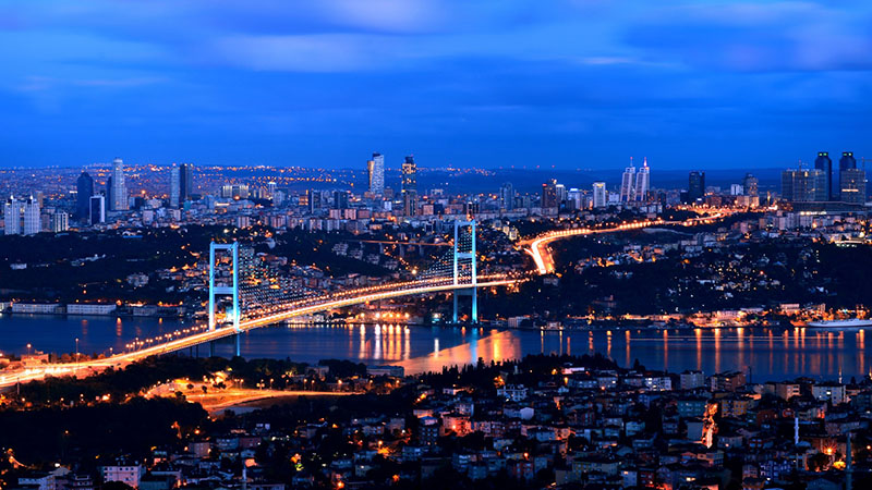 تنگه بسفر در شب | تور استانبول