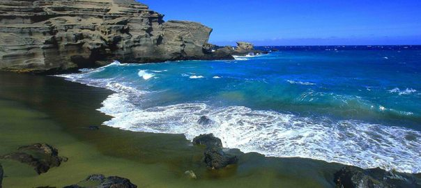 ساحل Papakolea | رنگارنگ ترین سواحل جهان