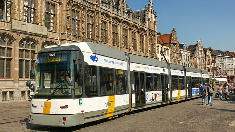 سیستم حمل و نقل عمومی در بروکسل