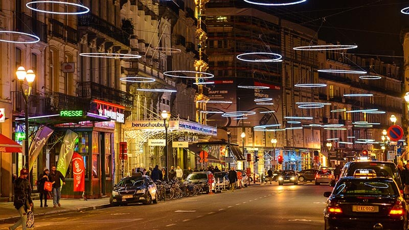 خیابانی در بروکسل