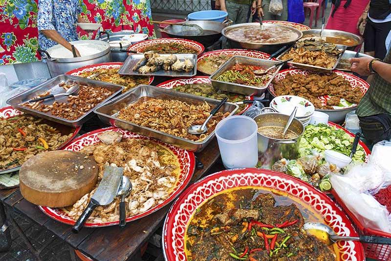 غذاهای خیابانی محله چینی ها