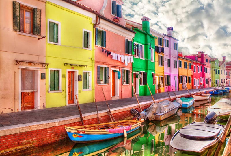 جزیره بورانو در ایتالیا   سفر به دور دنیا