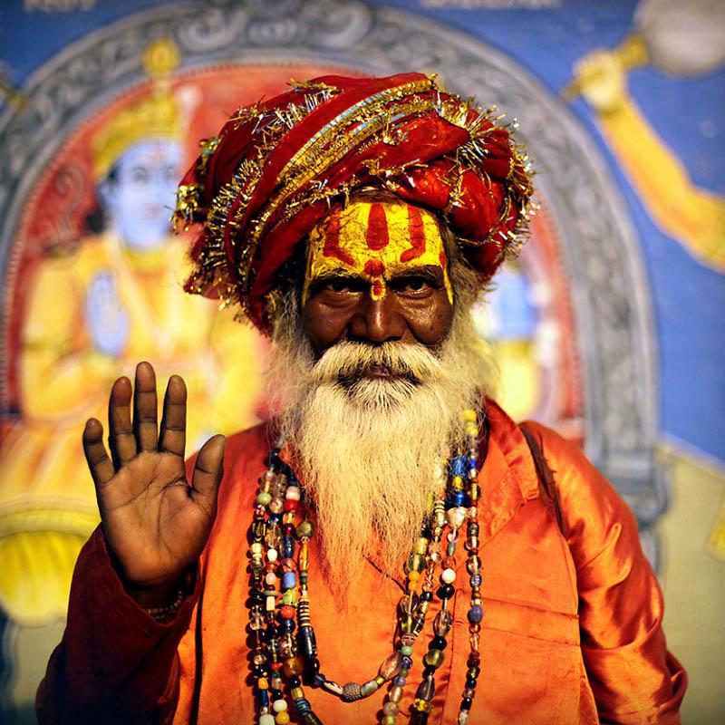 مرد هندو در واراناسی