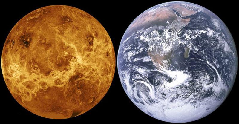 مقایسه زمین و ونوس | سیاره ونوس
