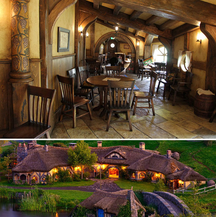 رستوران The Green Dragon Pub In Hobbiton