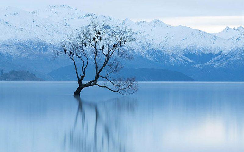 دریاچه واناکا در زمستان