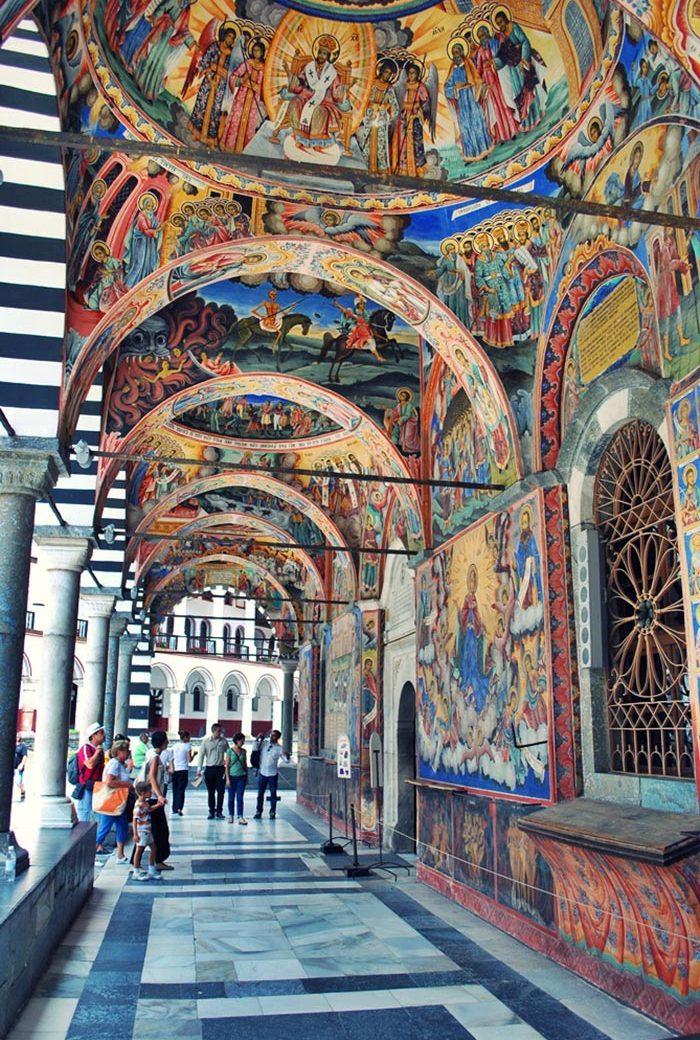 نقاشی های صومعه ریلا در بلغارستان