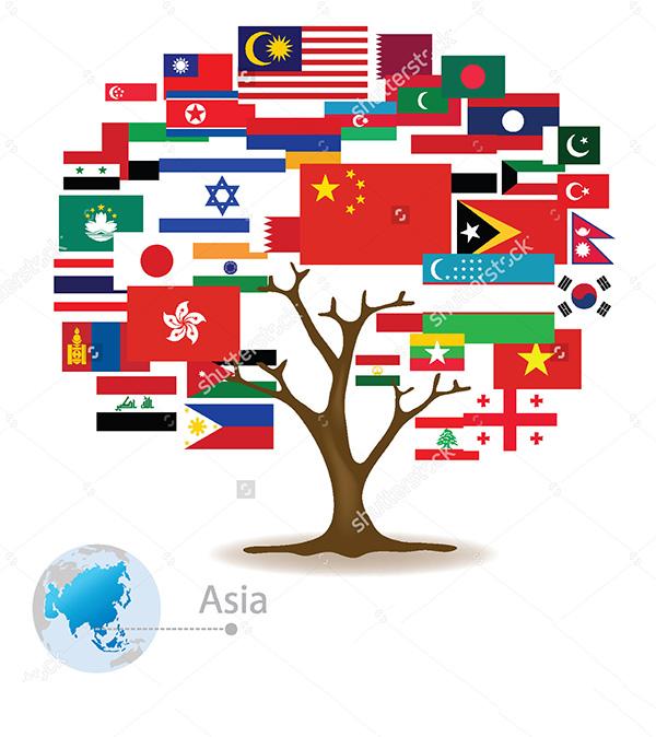 عکس پرچم کشورها با اسم کشور