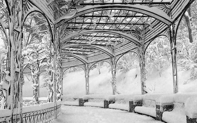 پارک مرکزی در زمستان