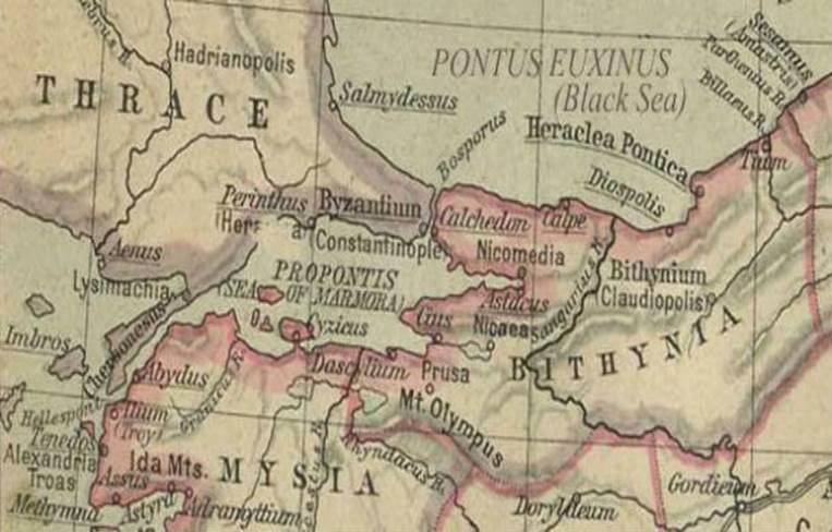 نقشه بیزانس
