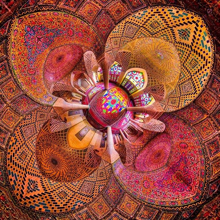 نمای مسجد نصیر الملک از بالا