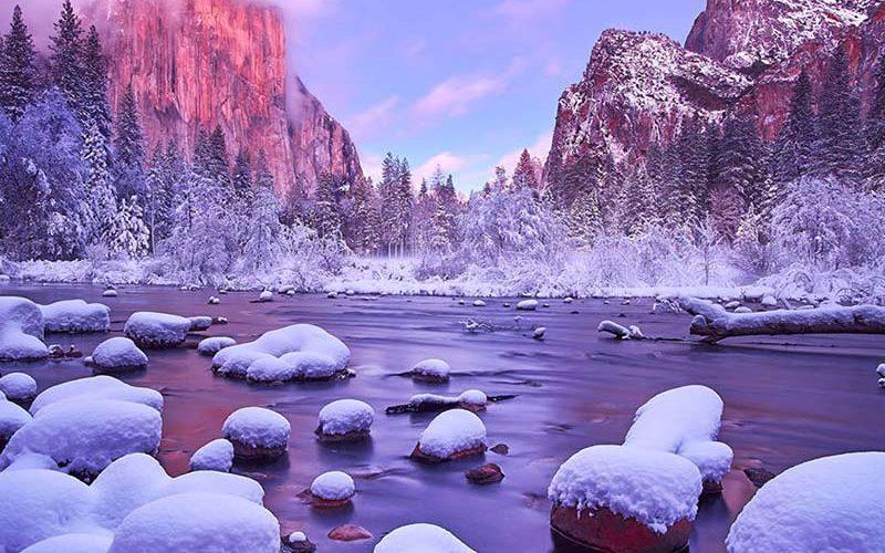 پارک ملی یوسیمیتی در زمستان