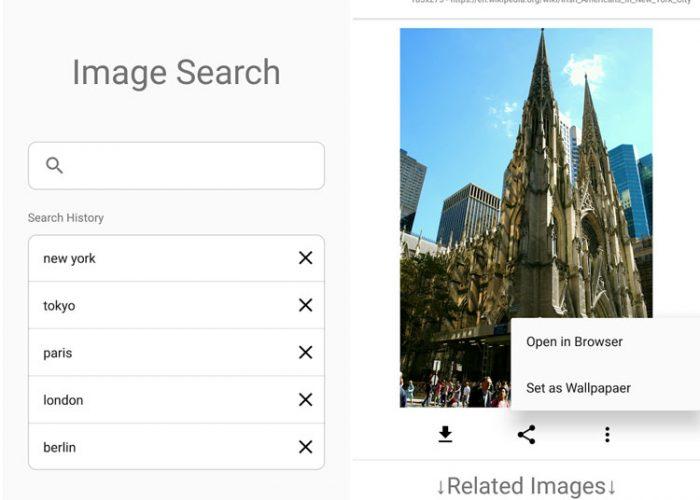 اپلیکیشن جستجوی تصاویر