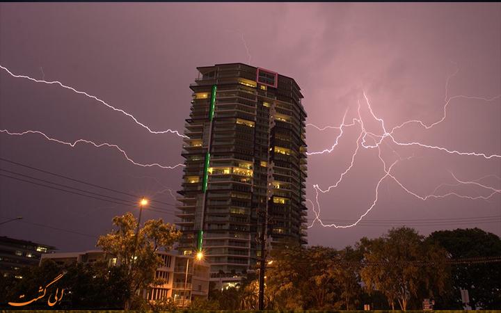 هوای طوفانی استرالیا