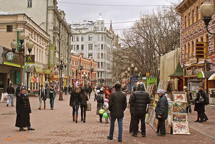 خیابان آربات در مسکو