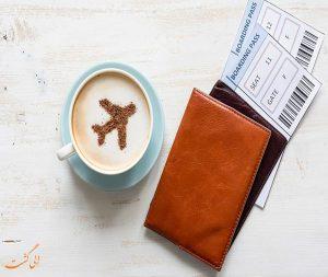خوردن قهوه در هواپیما
