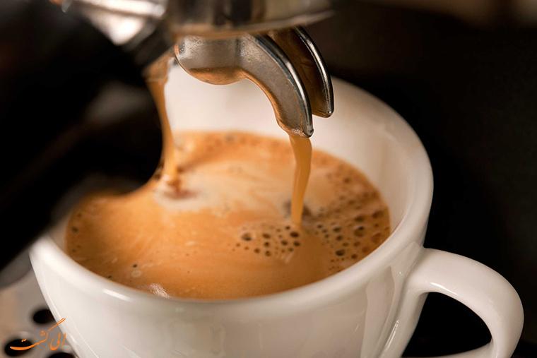قهوه در هواپیما