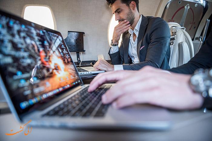 حمل لپ تاپ در هواپیما