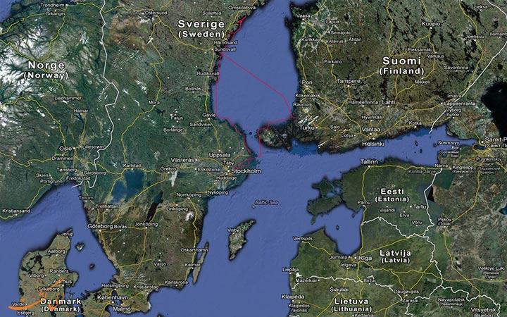 نقشه سوئد