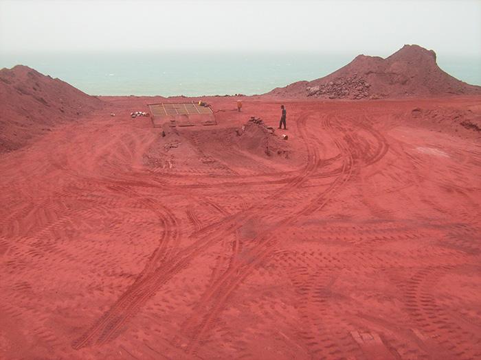 خاک رنگی جزیره هرمز