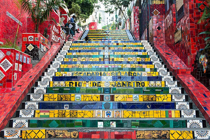 پله های سلرون در شهر سائوپائولو