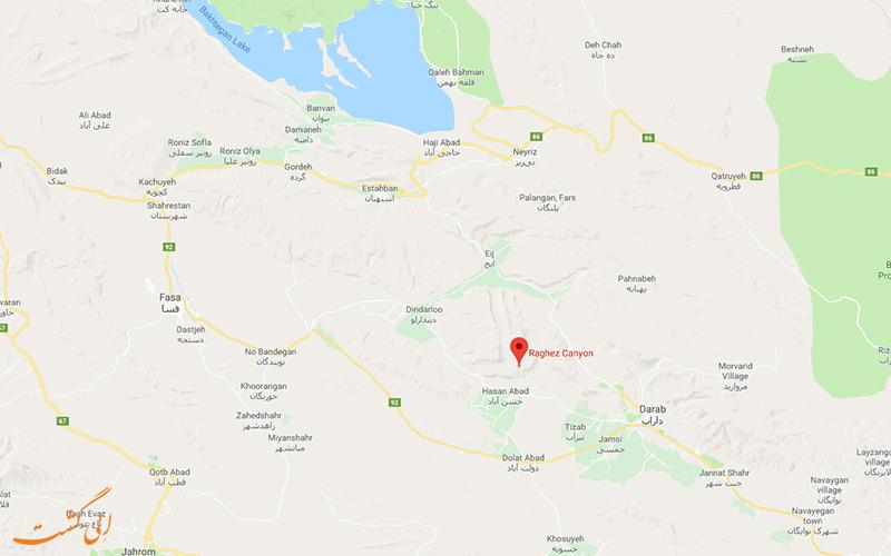 نقشه-گوگل-مپ-و-تنگ-رغز