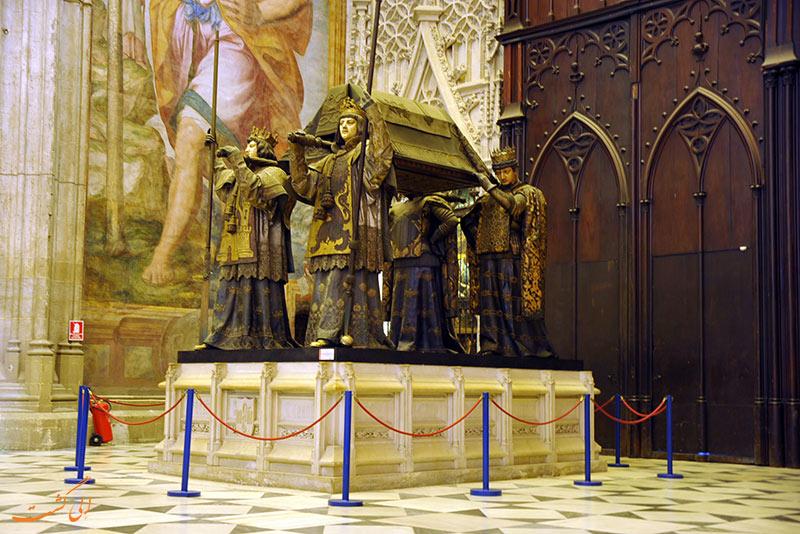 بقایای کریستف کلمب در کلیسای جامع سویل
