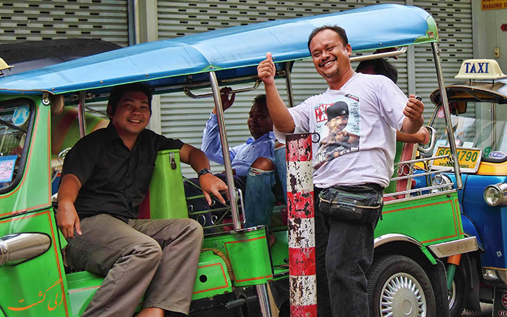 راننده های تاکسی در تایلند